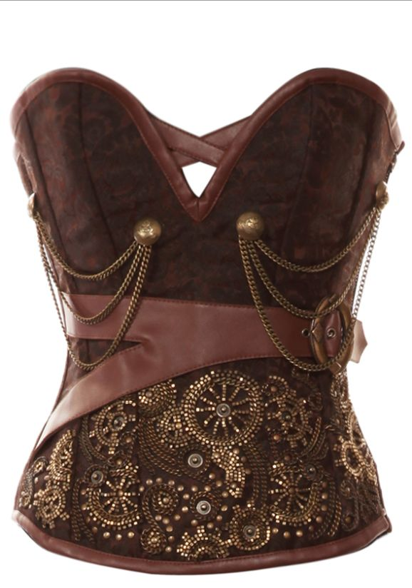beaded steampunk corset - in black, yes!