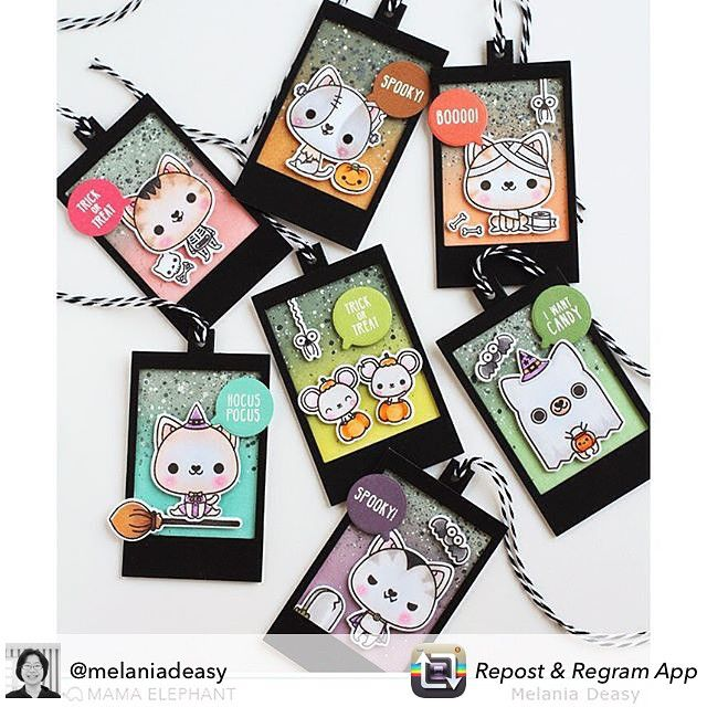 Today we have @melaniadeasy on the #mamaelephant blog today featuring #lulibunny #meowlloween #clearstamps