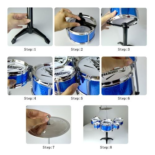 Shop best 1# Kids Musical Toys Simulation Jazz Drum Music with 5 Drums Sets Beat Children's Educational Instrument Gifts for Boys Girls Random Color from Tomtop.com at fast shipping. Various discounts are waiting for you!