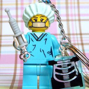 Nurse Bling: Lego nurse keychain! #Nurses #Lego #NurseBling