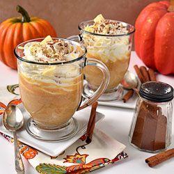 Pumpkin Spice White Hot Chocolate- it's like having dessert in a mug!