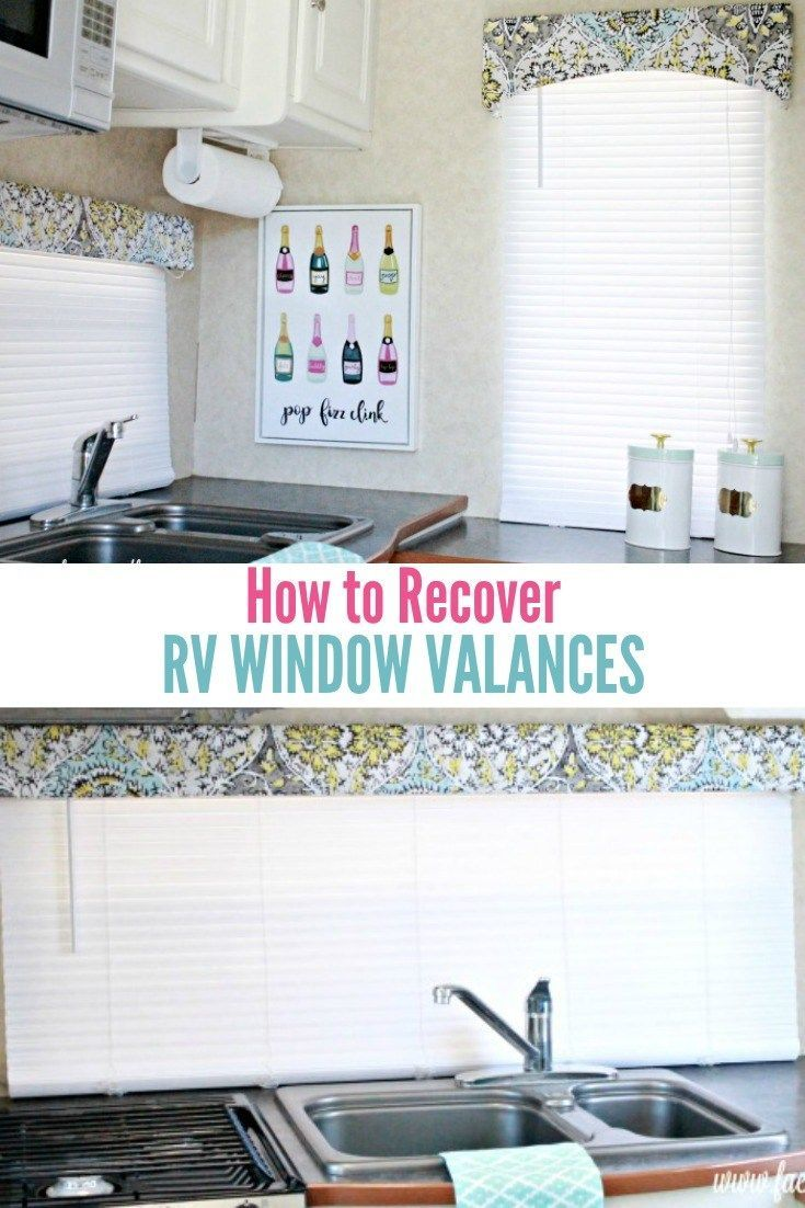 How to recover your rv window valances valance trailer