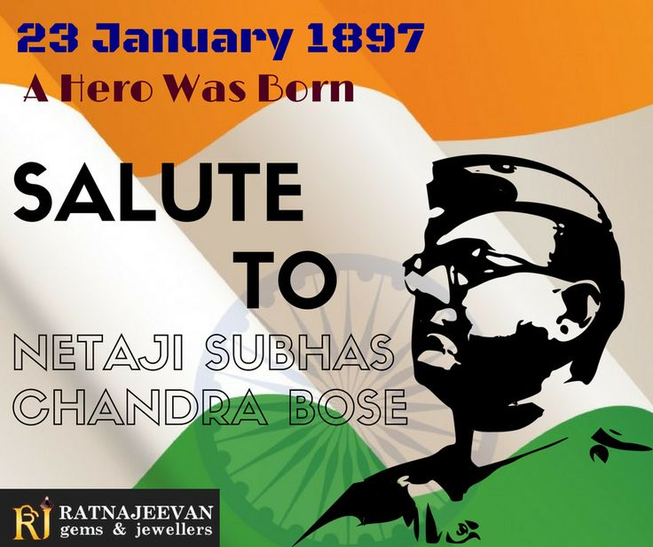 Happy Birthday to Netaji Subhas Chandra Bose Jai Hind!!!