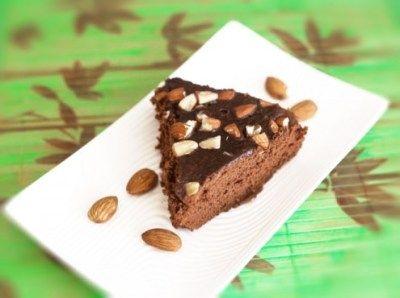 Eggless Instant Chocolate Almond Cake Recipe by Anita Mokashi