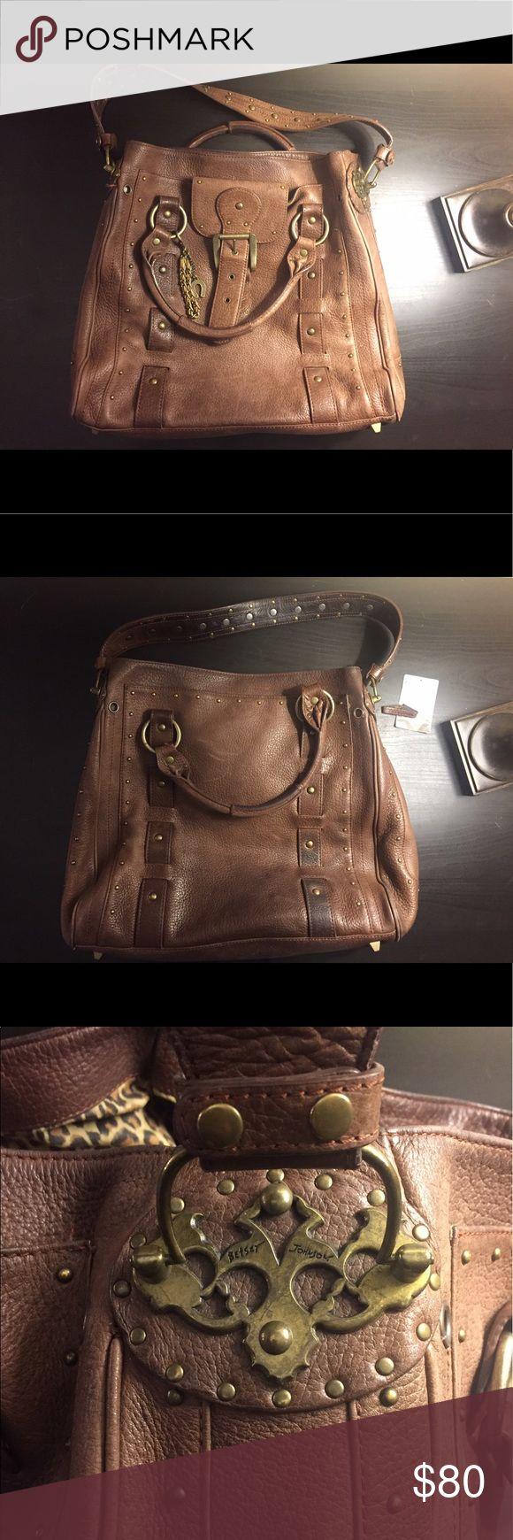 Betsey Johnson - Brown leather hobo bag Vintage Betsy Johnson brown leather hobo bag! Bags Shoulder Bags