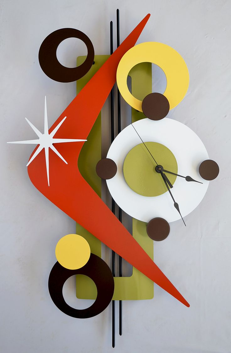 Retro Mod Clocks Apartment Vibes Pinterest Reloj