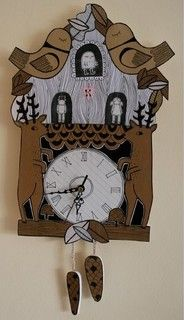 Cuckoo Clock by Kate Sutton - eclectic - clocks - by Etsy
