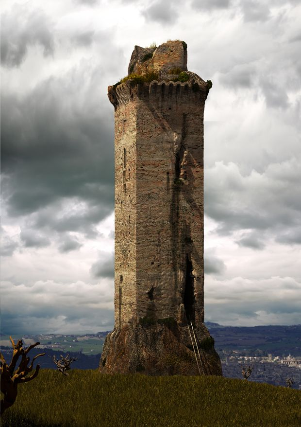 Ricostruzione dell'antica torre di Guardia di Jesi