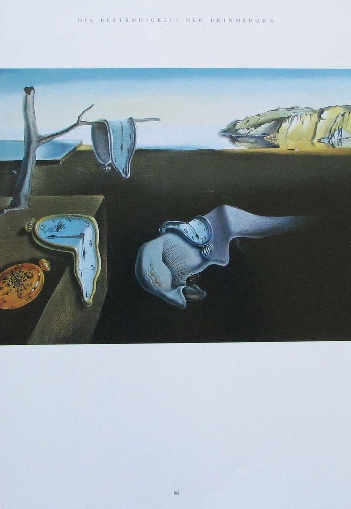 Dali DIE BESTÄNDIGKEIT DER ERINNERUNG Kunstdruck Reproduktion Surrealismus