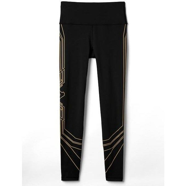 GapFit Wonder Woman lasso leggings ($70) ❤ liked on Polyvore featuring pants, leggings, legging pants, gap leggings, gap pants and gap trousers