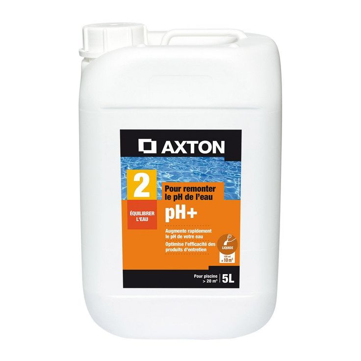 Rehausseur De Ph Piscine Axton Liquide 5 L 5 Kg Rehausseur