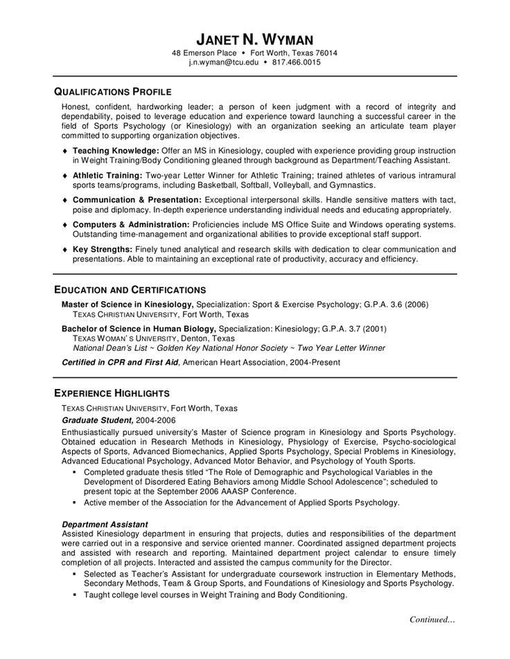 Best Education Images On   Graduate School Resume