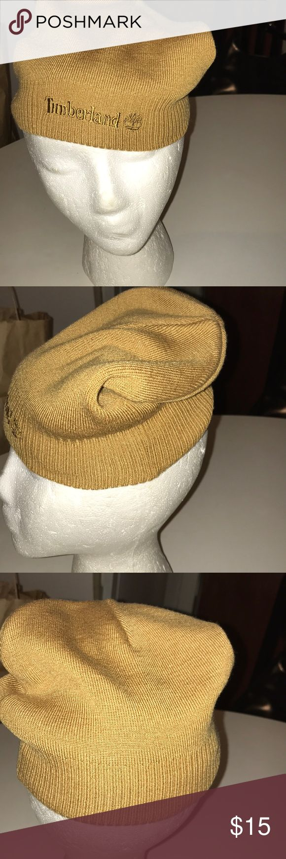 Timberland hat Mustard color knit hat. Signature name on front. Ribbed trim. Good condition & warm. Goes great with timberland gear Timberland Accessories Hats