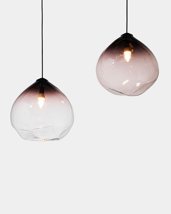 These handblown lights are so beautiful!  Like delicate balloons and floaty and spa like!