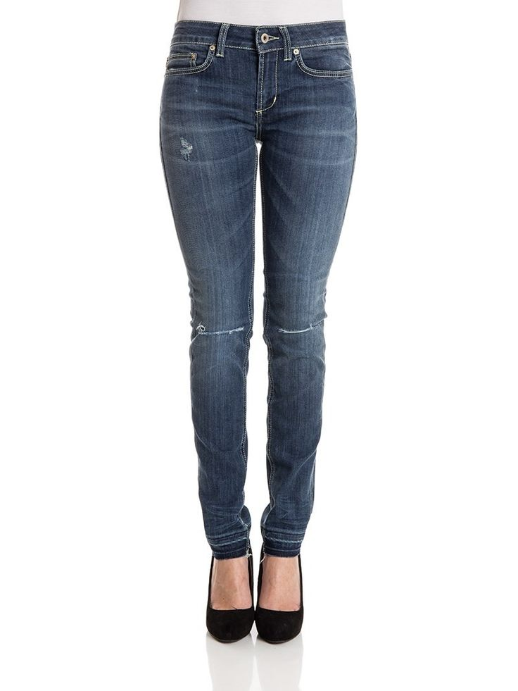 Dondup - Monroe jeans - skinny fit jeans - distressed and destroyed jeans - ZO et LO