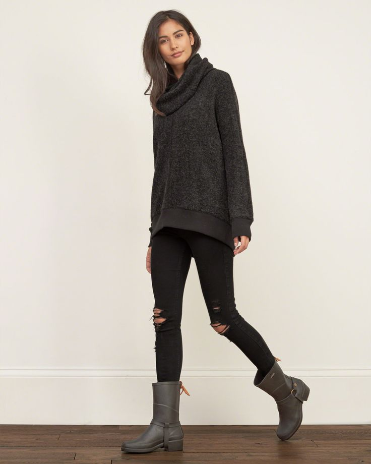 Womens Cowl Neck Pullover | Womens Tops | Abercrombie.com