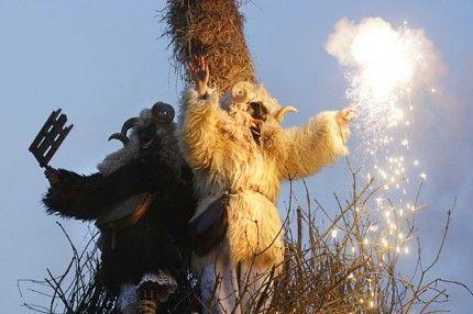 "We're still ""Busójárás"" - traditional folklore chase away winter - Mohacs, Hungary"