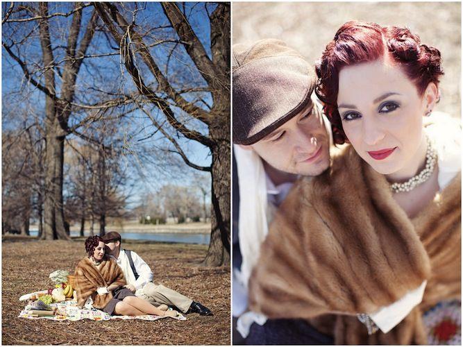 Glamourous Vintage Chicago Engagement Shoot http://su.pr/Ak4iAI