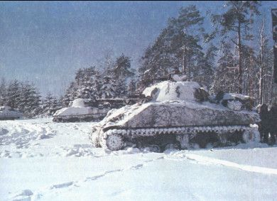 Shermans in the Ardennes 7th Armored Division