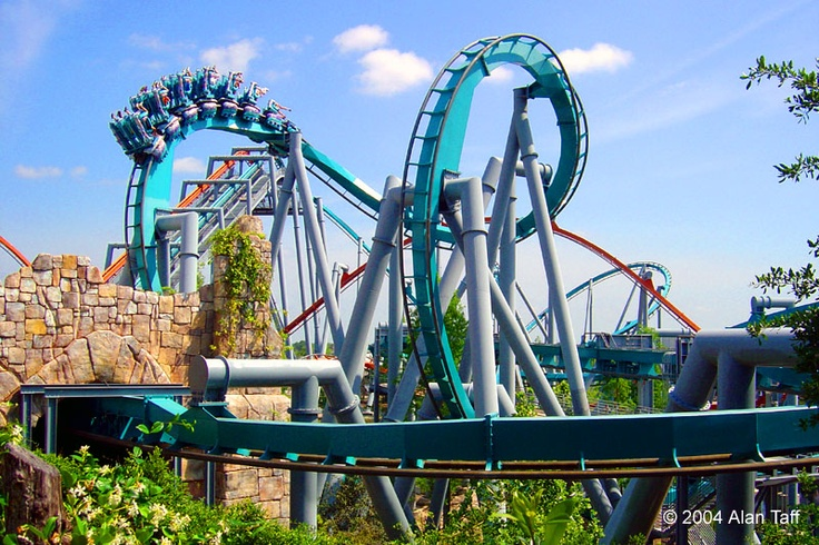 Dueling Dragons Ice Train Roller Coaster Universal