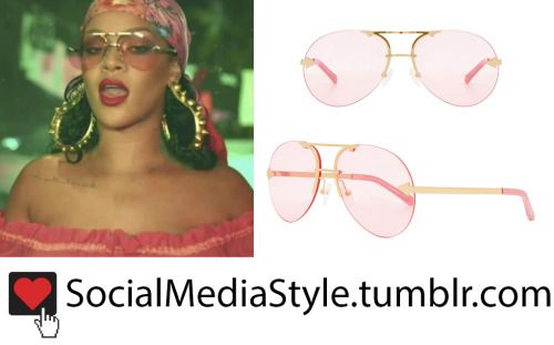 "Buy Rihanna's ""Wild Thoughts"" Video Pink Aviator Sunglasses, here!"