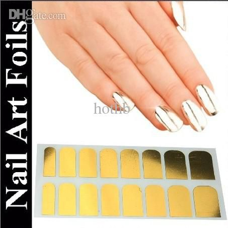 Toe Nail Stickers Wholesale 2015 New Fashion Beauty Nail Art Polish Silver And Gold Metallic Foil Sticker Patch Wraps Tips Wholesale Nail Supplies From Hothb, $9.82| Dhgate.Com