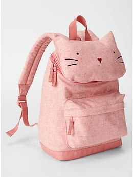 Cat backpack - even though we're not a cat family, this is too cute! Must have for Mylee!