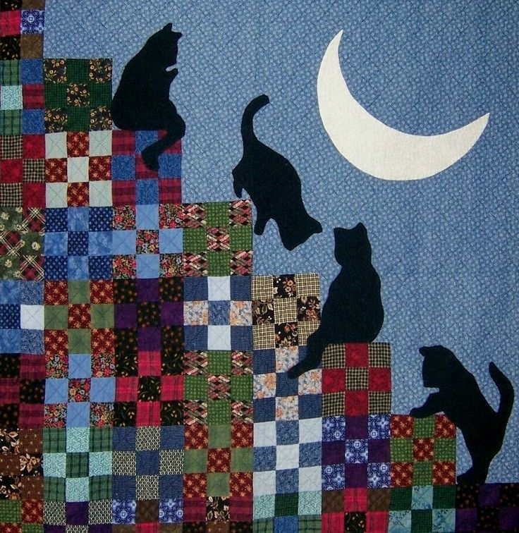 cat quilts | Quilt Inspiration: The Best of Cat Quilts! Part Three