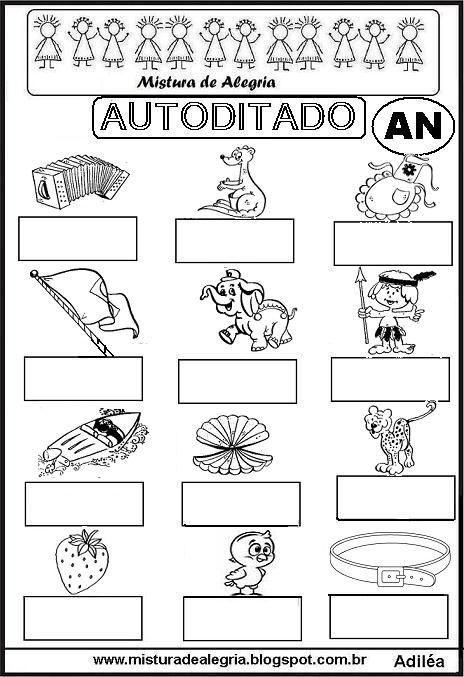 autoditado-letra-AN-alfabetizacao-imprimir-colorir.JPG (464×677)