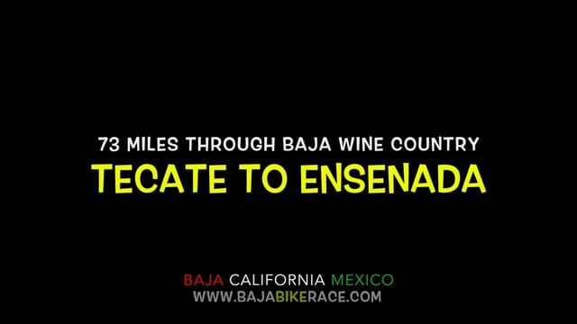 Cycling Baja Wine Country - 73miles - Tecate to Ensenada  A gorgeous 73 mile closed course route through Baja California wine country!  This route is a race and fun ride!  Music:  Artist: Pitbull Album: Almando  Buy Here: https://itunes.apple.com/us/album/armando-deluxe-version/id397500842  www.bajabikerace.com www.twitter.com/bajabikerace www.instagram.com/bajabikerace www.facebook.com/bajabikerace