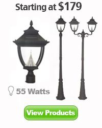 Solar lamp post lights for driveway entrance