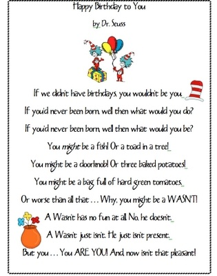 Dr. Seuss....Happy Birthday!