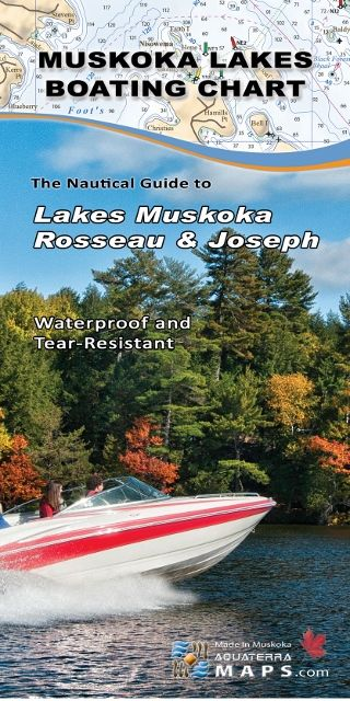 The Muskoka Lakes Boating Chart, by Aquaterra Maps, is the most detailed and up to date nautical chart of Lakes Muskoka, Joseph and Rosseau.