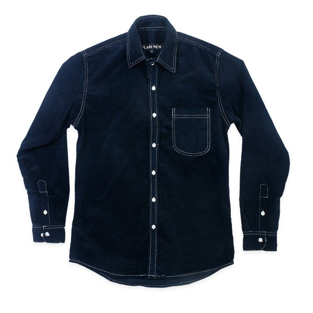 www.maskool.in - 7.5 oz 16-Wale Navy Cord LS Shirt Rp 235.000,00
