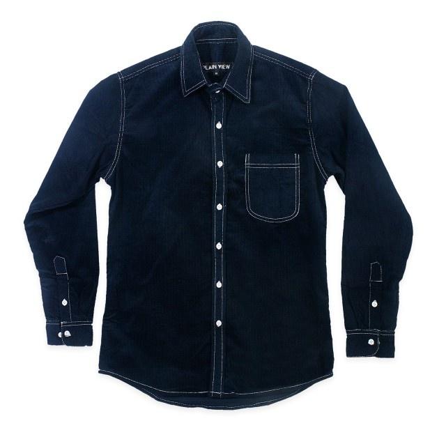www.maskool.in - 7.5 oz 16-Wale Navy Cord LS Shirt Rp 235.000,00