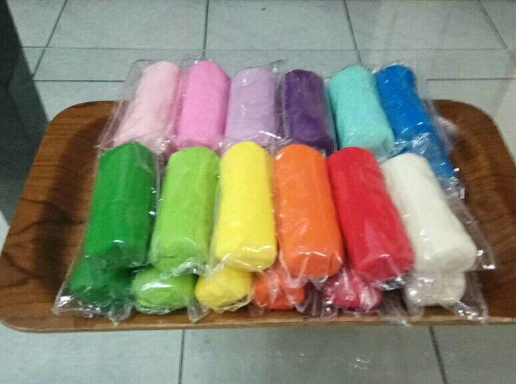 Colorful homemade playdough