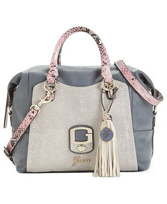 GUESS Handbag, Azadeh Small Box Satchel - Handbags & Accessories - Macy's.  $72