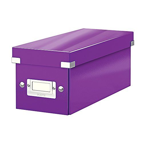 From 4.74 Leitz Cd Storage Box Purple Click And Store Range 60410062
