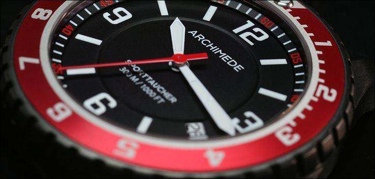 COMING SOON - ARCHIMEDE SportTaucher with red bezel!