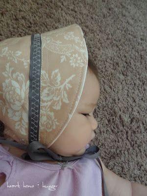 Adorable! easy sew baby bonnet
