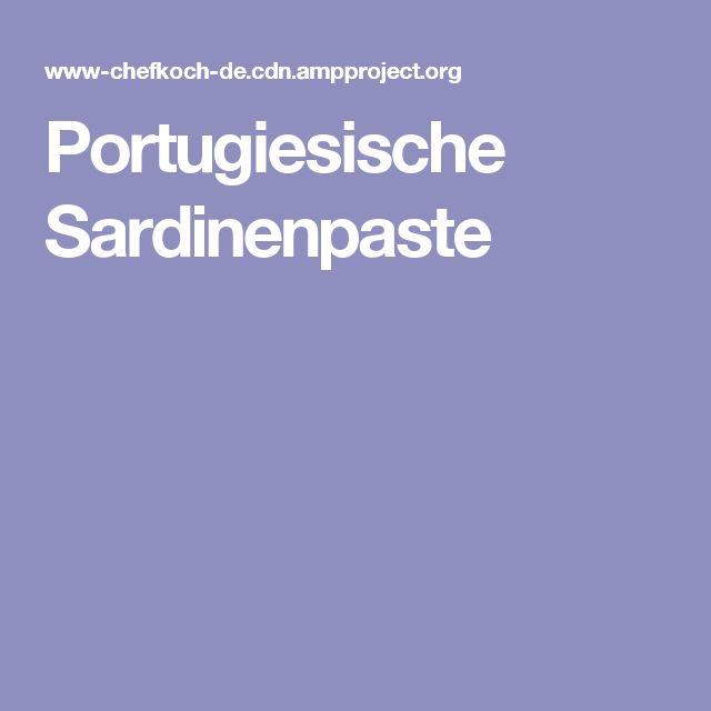 Portugiesische Sardinenpaste
