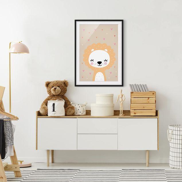 Eine schöne Illustration als Poster mit Rahmen fürs