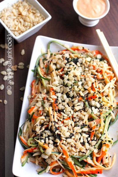 easy and delicious kani salad with spicy sriracha dressing
