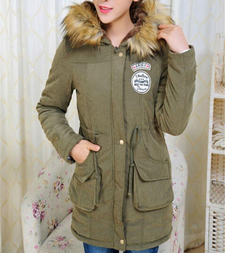 $29.25 (Buy here: https://alitems.com/g/1e8d114494ebda23ff8b16525dc3e8/?i=5&ulp=https%3A%2F%2Fwww.aliexpress.com%2Fitem%2FFashion-Winter-Warm-Down-Coats-Parka-Casual-Jacket-Outwear-Military-Hooded-Coat-Fur-Coats-Manteau-Woman%2F32737987292.html ) Fashion Winter Warm Down Coats Parka Casual Jacket Outwear Military Hooded Coat Fur Coats Manteau  Woman Parkas Clothes for just $29.25