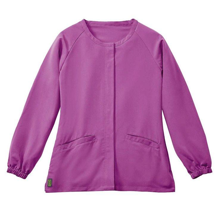 Addison Ave Scrub Jacket Purple Small
