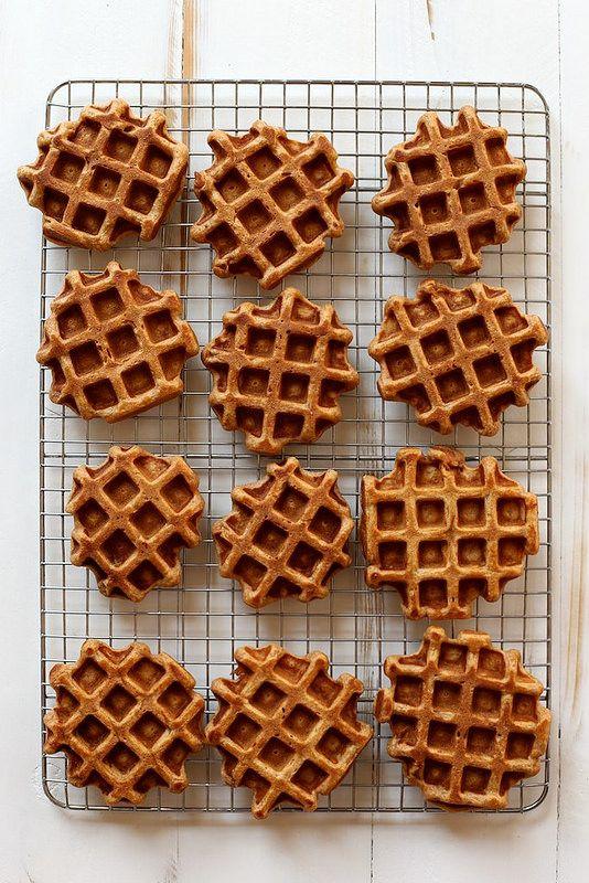vanilla bean sweet potato waffles /
