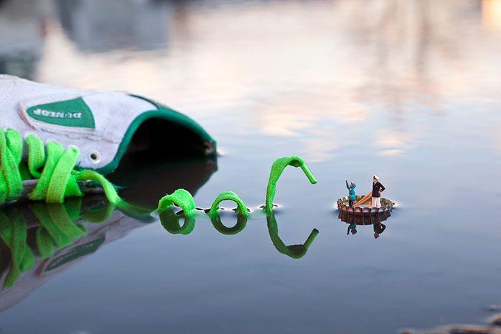 Slinkachu - Street Art ou comment montrer qu'avec rien on peut tout créer (Le monstre du Loch Ness fait beaucoup moins peur d'un coup)