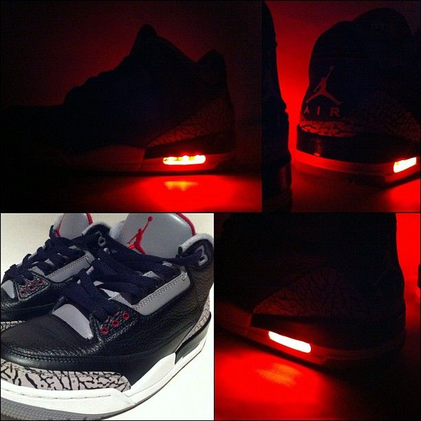 "vans high - Evolved Footwear ""Light Up"" Air Jordan Black Cement III Customs ..."