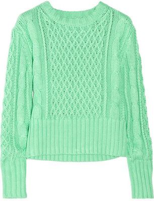 Acne Mint Green Cable Knit Sweater