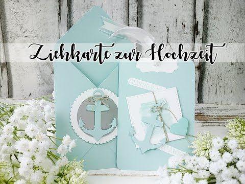 Ziehkarte - Glücklich zu zweit| Hochzeit | Wedding | Grußkarte | Maritim | Einladung - YouTube
